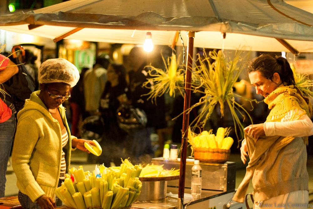 Corn being sold on a Brazilian Street